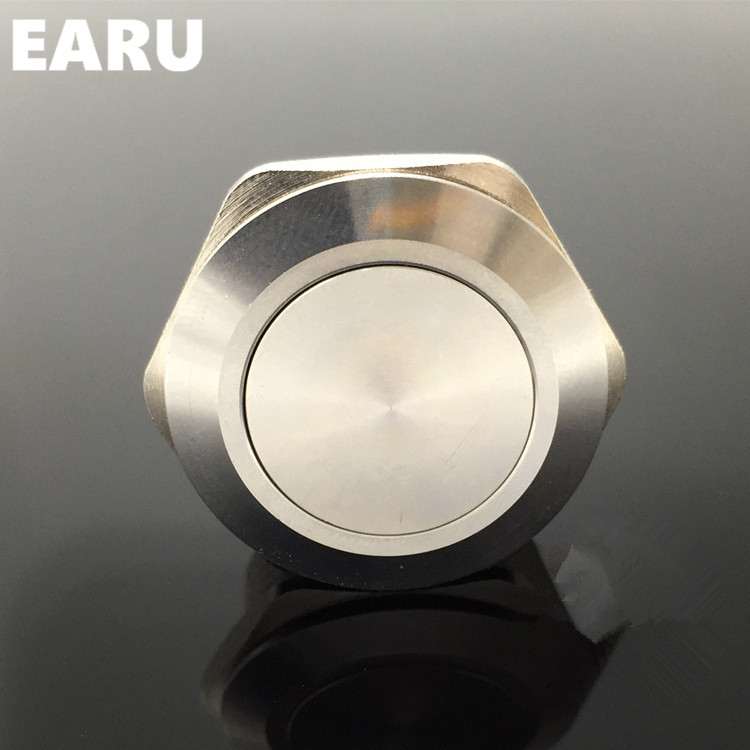 40mm Metal Stainless Steel Waterproof Latching Doorebll Bell Horn Push Button Switch Car Auto Engine Start PC Power Locking 1pc 6pin 25mm metal stainless steel momentary doorebll bell horn led push button switch car auto engine start pc power symbol