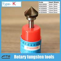 1 Piece Tungsten Carbide Alloy Rotary File Milling Cutter Drill Bit For Carving Sculpture Type K