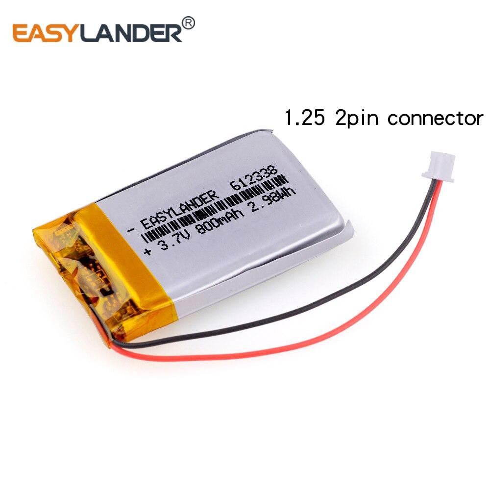 612338 3.7V 800mAh Rechargeable li-Polymer Battery For toys millet GPS TEXET DVR mp3 mp4 cell phone speaker 622338 602338