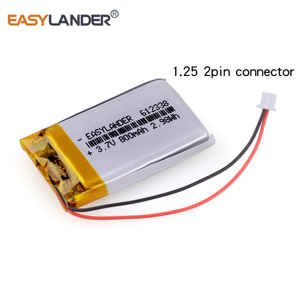 612338 3.7V 800mAh Rechargeable li-Polymer Battery For toys millet GPS TEXET DVR mp3 mp4 cell phone speaker 622338 602338 xhr 2p 2 54 800mah 802035 point reading pen bluetooth speaker school paper 3 7v polymer battery 702035