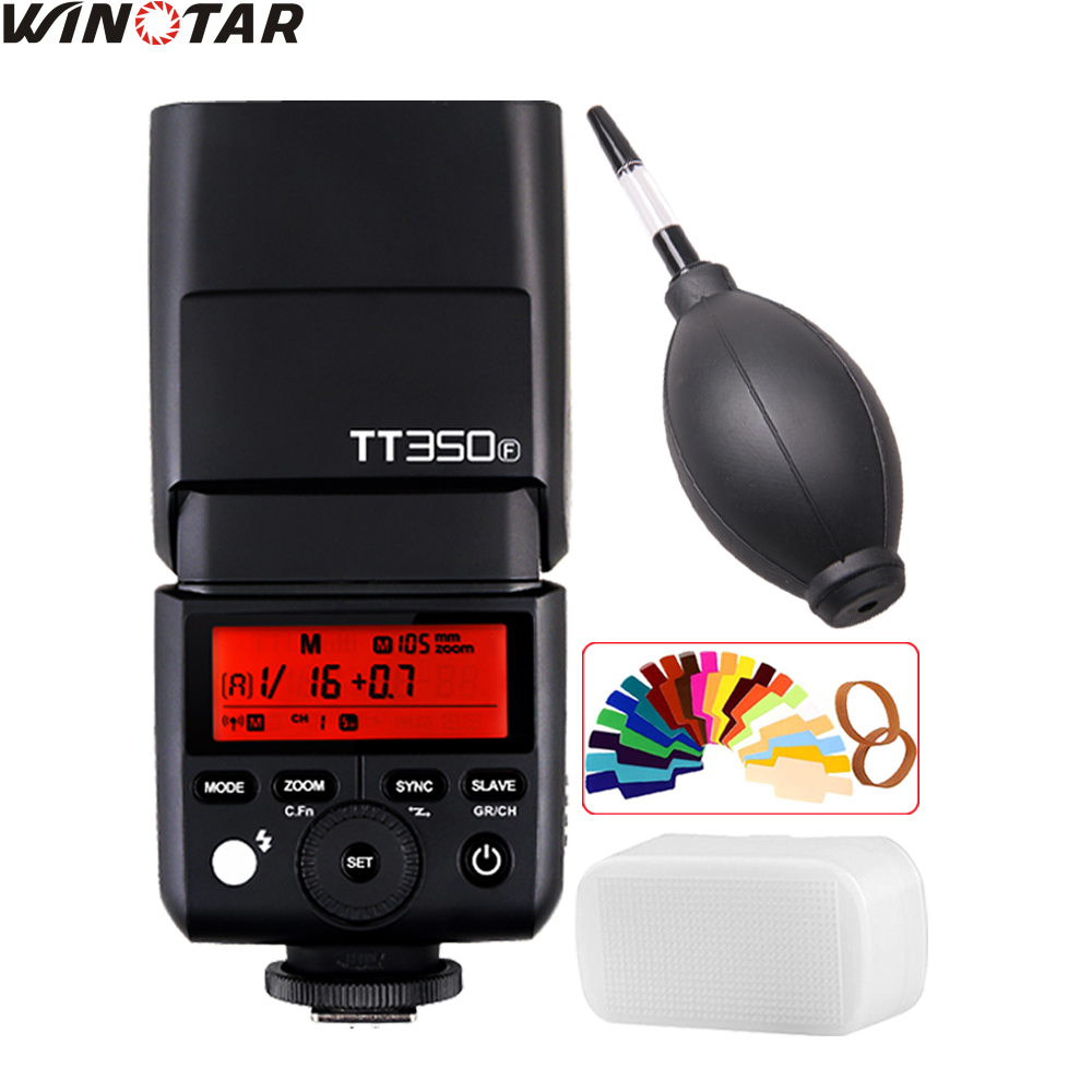 In Stock Godox TT350F for Fujifilm Mini Speedlite Camera Flash TTL HSS GN36 High Speed 1/8000S 2.4G Wireless X System for Fuji godox flash tt350f fuji ttl hss 2 4ghz 1 8000 s gn36 mini speedlite flash for fujifilm dslr camera free shipping