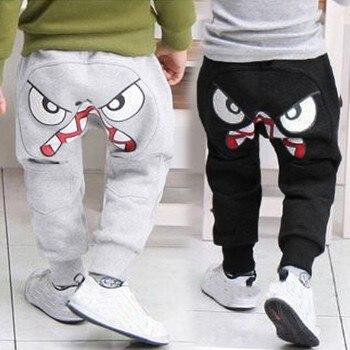 Bebé niños niñas pantalones de harén Pantalones de dibujos animados de aves lengua Unisex patrones casual interior de invierno pantalones Harem de chicos