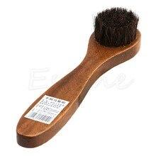 Длинные деревянные ручки щетиной конский волос щетка обуви загрузки Лак Блеск Чистка Dauber S27 Прямая поставка