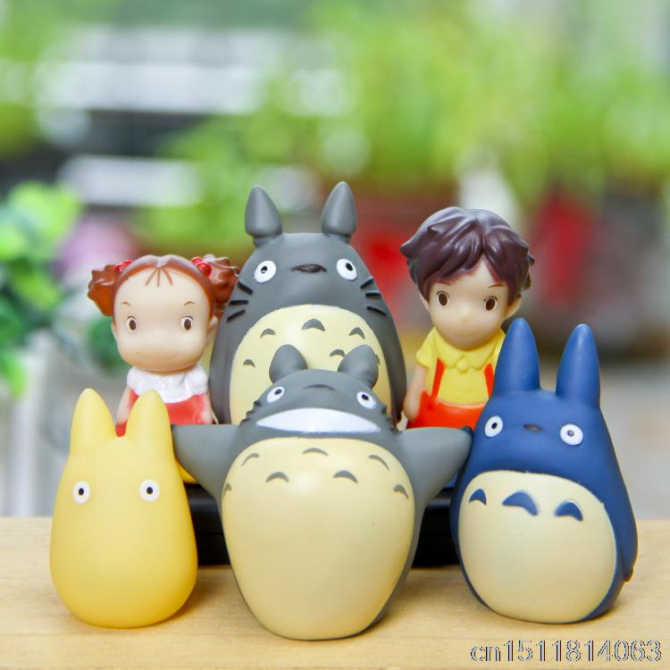 SJFC 6Piece / lot Hayao Miyazaki Anime Cartoon Granne Totoro Åtgärd - Toy figuriner