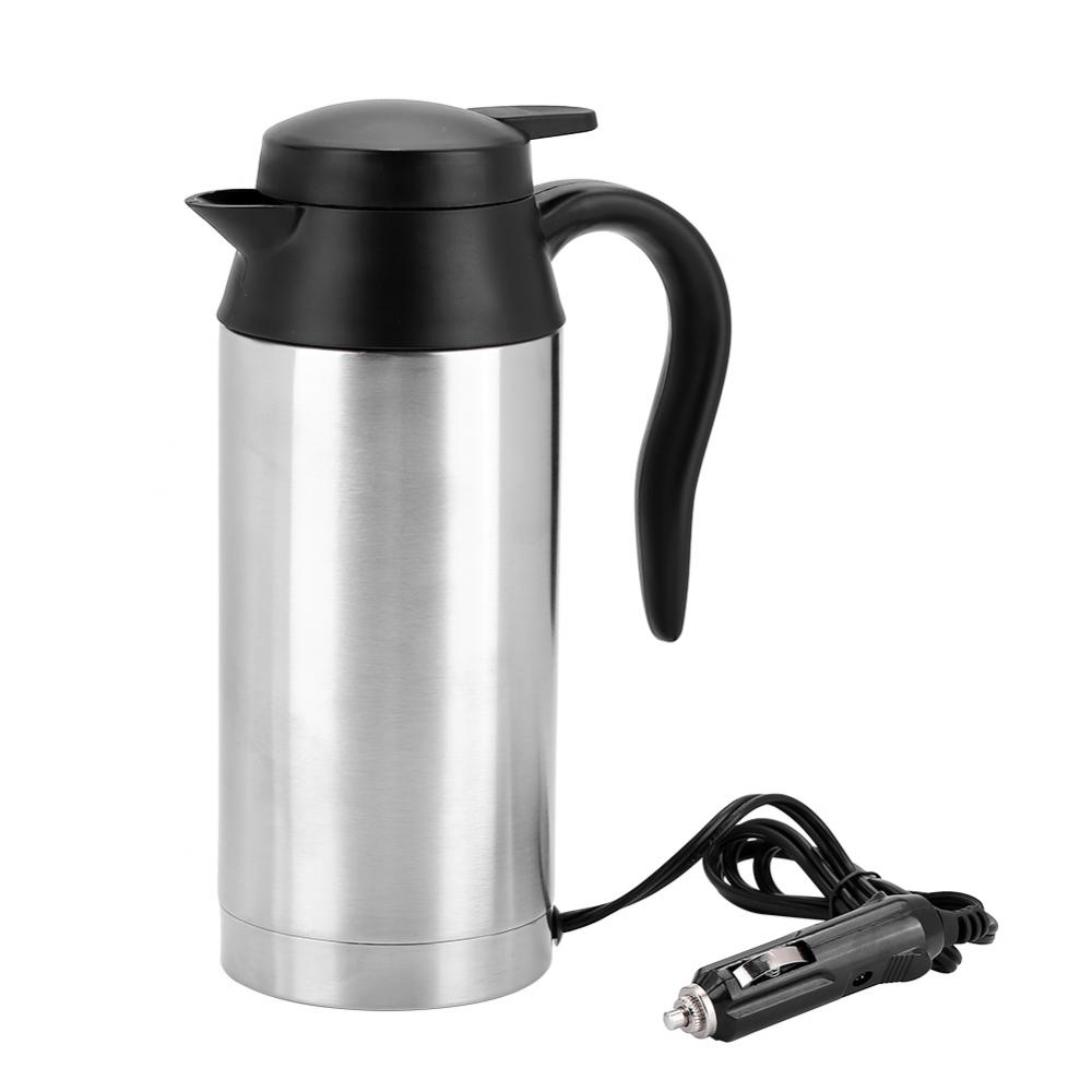 750ml 24v Car Based Heating Stainless Steel Cup Kettle