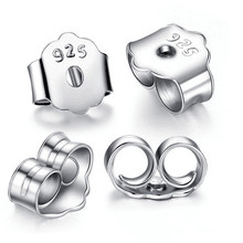 5 Pairs Drop Shipping 925 Sterling Silver Earring Back Stoppers 4.5*5mm Wholesale DIY Jewelry Findings