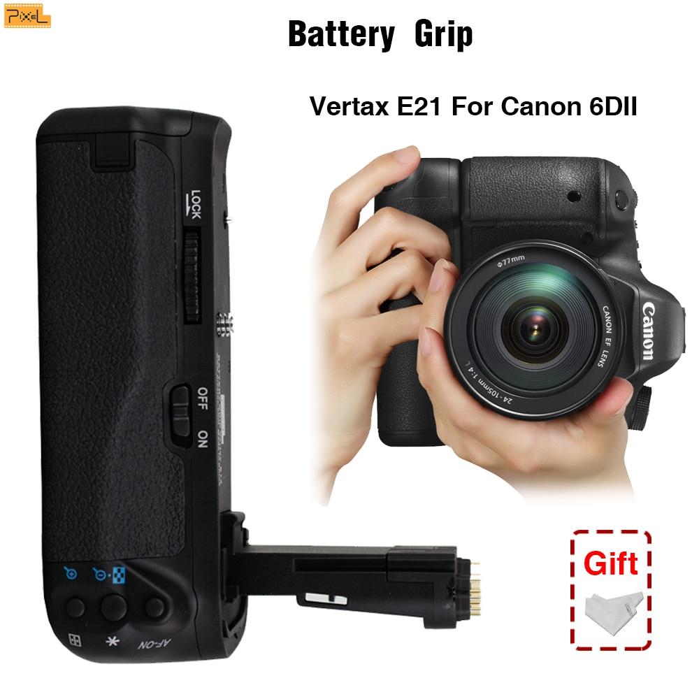 Prise de batterie Pixel E21 pour Canon EOS 6D Mark II prise de vue verticale Double puissance obturateur Vertical prise de vue Macro