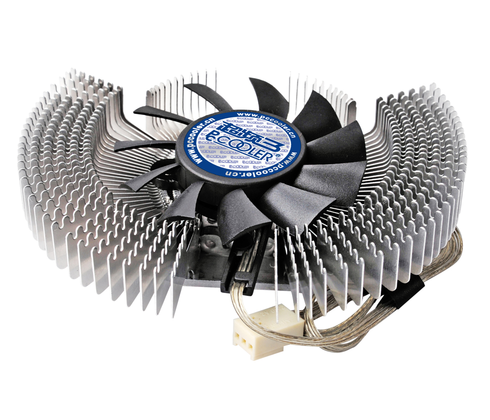 Pccooler K60 aluminum 6cm 60mm fan Multiporous graphics card heatsink VGA fan Cooling graphics Cooler computer cooler radiator with heatsink heatpipe cooling fan for hd6970 hd6950 grahics card vga cooler