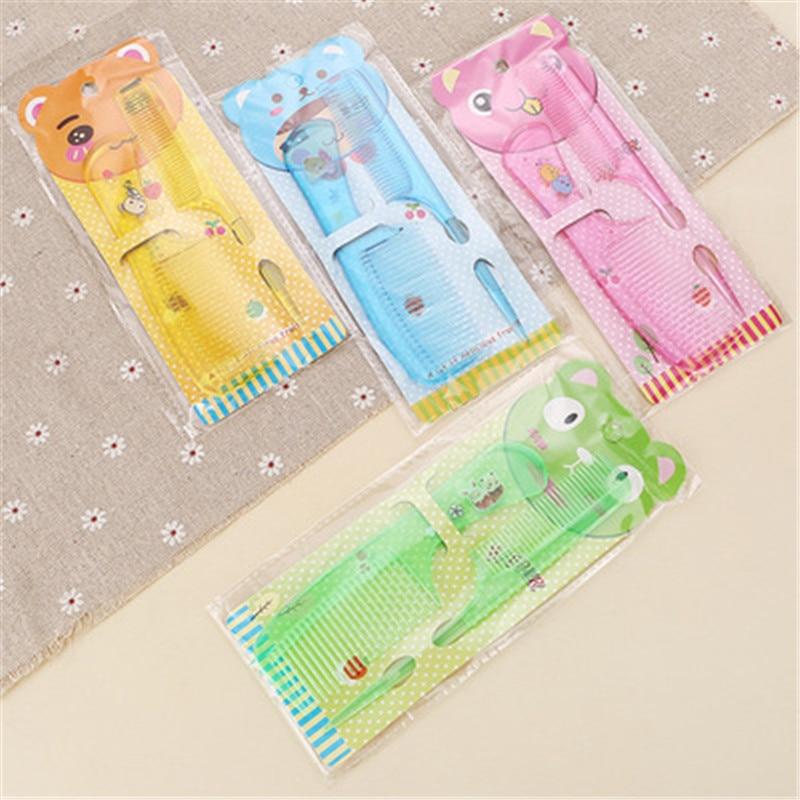 Randomly Color Baby 2Pcs/Set Brush Comb Boys And Girls Comfortable Soft Hair Combs Newborn Babies  Plastic Anti-static Comb Sets