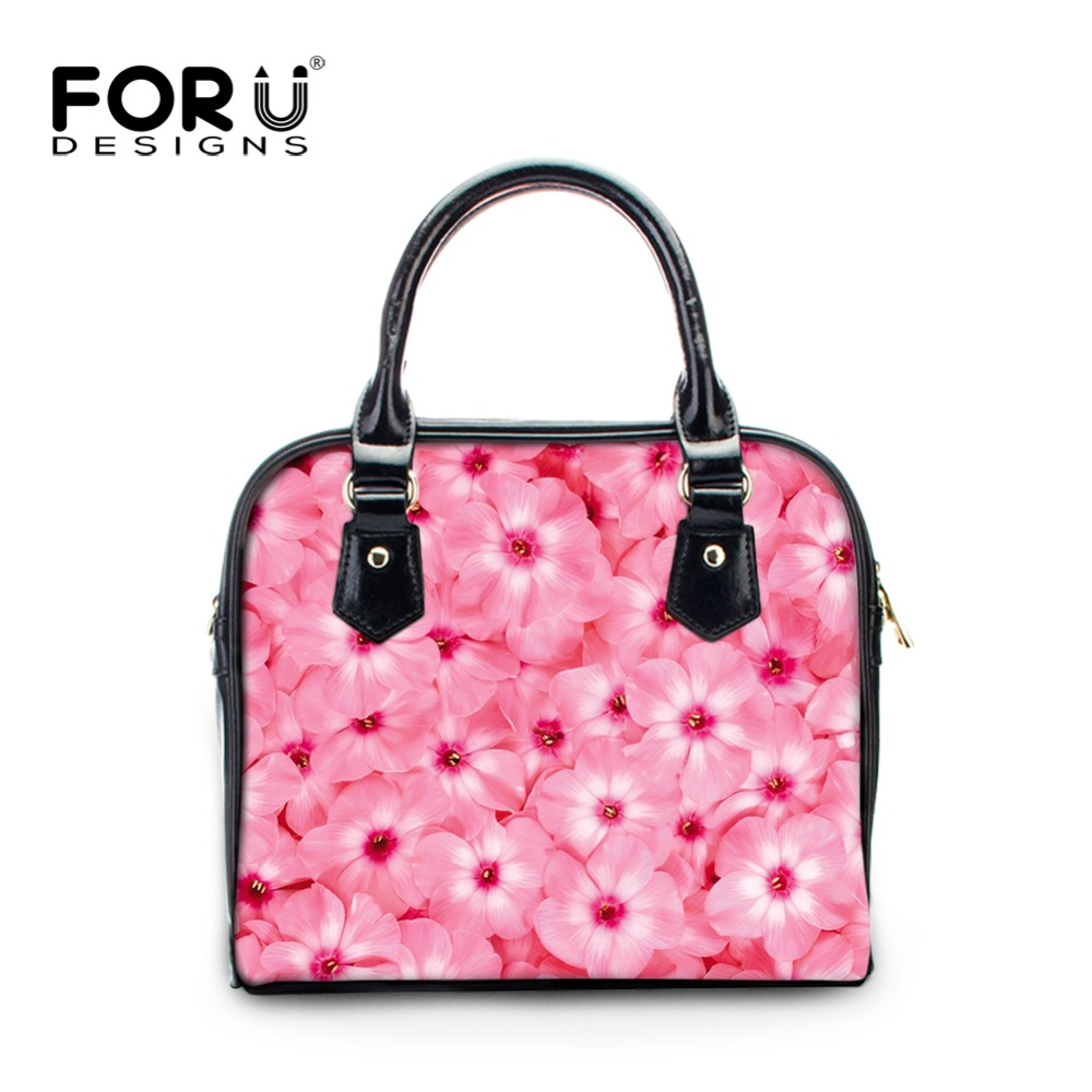 FORUDESIGNS Women PU Leather Messenger Bags Flower Printing Designer Handbags High Quality Ladies Crossbody Bag Girl Tote Bolsas new 2017 designer classical hobos bag tote high quality pu leather handbags women ladies shoulder messenger crossbody bags an222