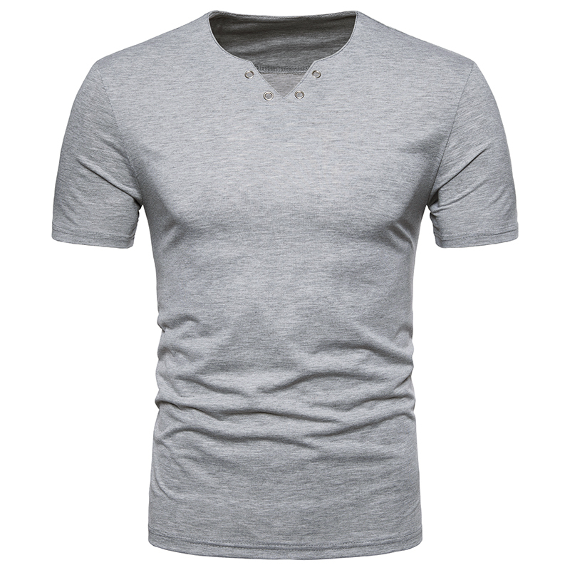 Tops tees 2018 Hot sales  Summer Men T-Shirt V neck Men short sleeves T-Shirt Men Fashion Casual Male T-shirt