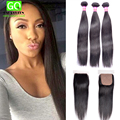 Bundles with Closure Peruvian Virgin Hair Straight Silk Base Closure with Bundles Peruvian Straight Hair Top Silk Base Closure