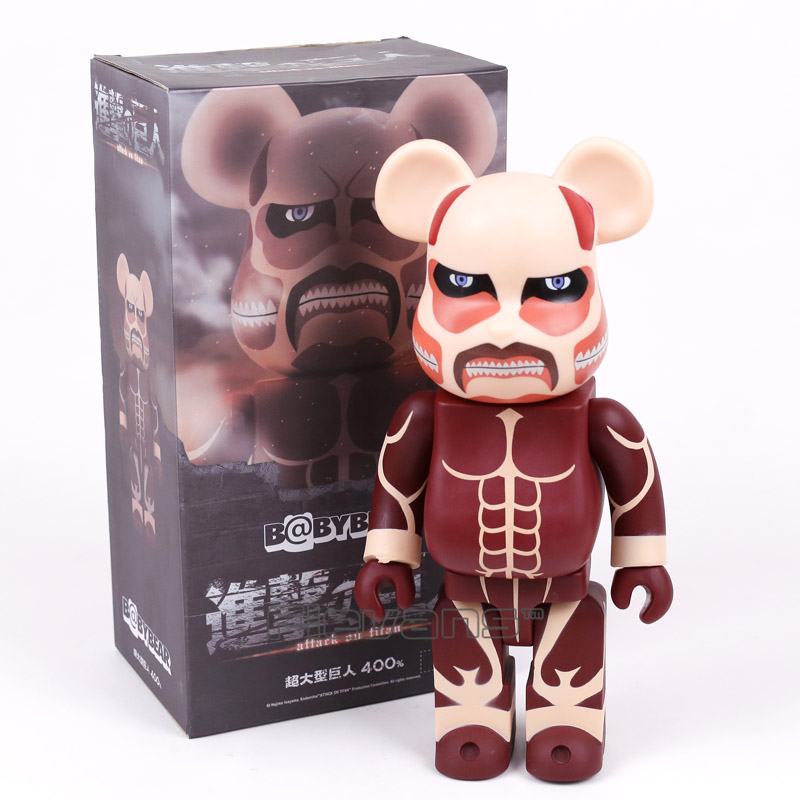 BABYBEAR Cosplay Attack on Titan Colossal Titan PVC Action Figure Collectible Model Toy 26cm 28 70cm 1000% bearbrick be rbrick attack on titans action toy figure medicom toy art work great gift for friends