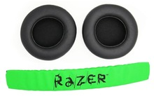 1 Set Replacement Headband Head band parts + Ear pads Cushion For Razer Kraken Pro 7.1 or Electra Gaming Headphones