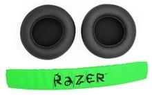 1 zestaw wymiana pałąk opaska na głowę części + wkładki do uszu poduszka dla razer kraken Pro 7.1 lub Electra słuchawki gamingowe