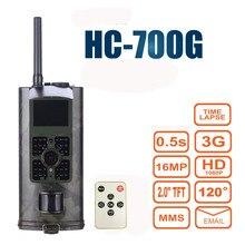 16MP Trail Jagd Kamera 3G GPRS MMS SMTP SMS 1080 P Video Nachtsicht 940nm Scouting Spiel Hunter Kameras falle HC700G
