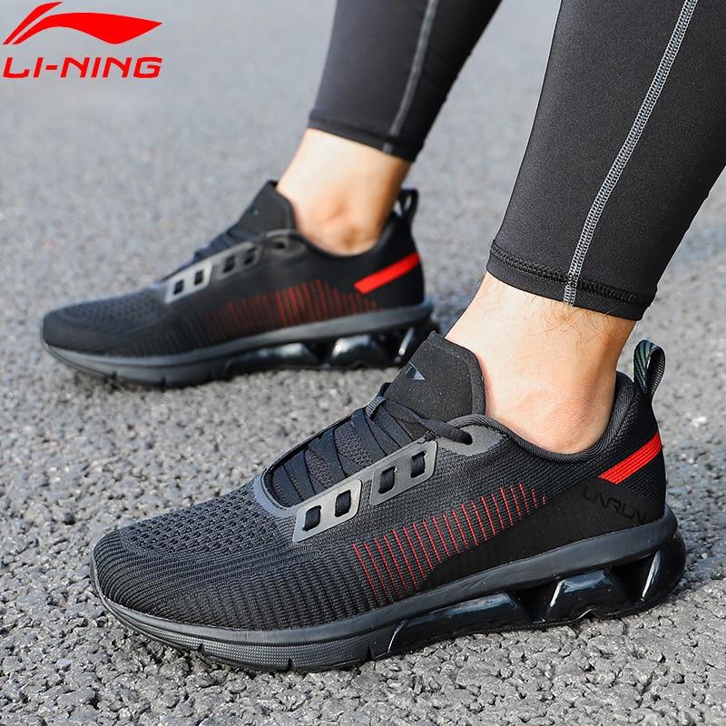 ffee6548 Li-Ning/мужские кроссовки для бега с воздушной дугой, однотонные Тканные  дышащие кроссовки
