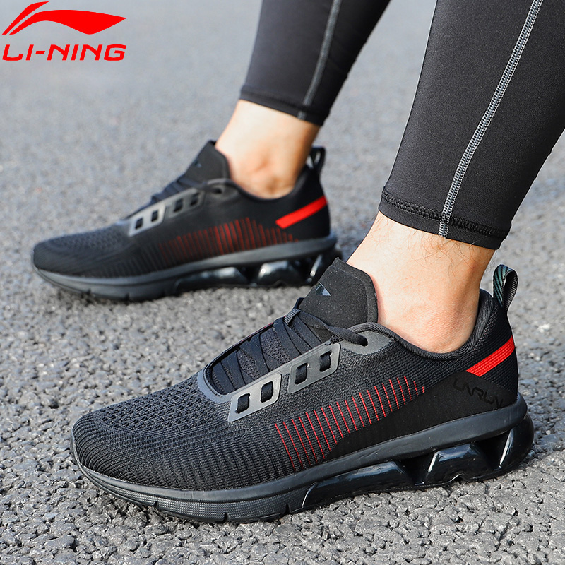 Li Ning Men AIR ARC FLOW Cushion Running Shoes Mono Yarn Breathable LiNing ARC Sport Shoes Sneakers ARHN075 XYP810-in Running Shoes from Sports & Entertainment    1