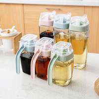 New Arrival Kitchen Glass Sauce Boat 350ml 550ml Gravy Boat with Handle Cooking Tools Soy Sauce Bottle Spice Storage Bottle Jars