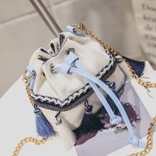 2019 New Ethnic Style Handbag Mini Chain Bag Single Shoulder Slant Brossbody Bags Phone Purse Imperial Pu Leather