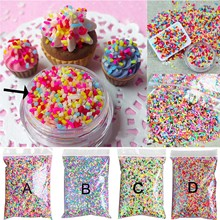 100g DIY Polymer Clay Colorful Fake Candy Sweets Sugar Sprinkles Decorations for Fake Cake Dessert Simulation Food Dollhouse(China)
