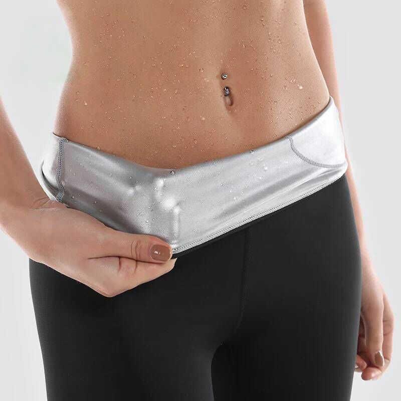 Горячая Пот тренировочные брюки для женщин с высокой талией формирователь тела Потеря веса для сжигания жира Йога гимнастические спортивные брюки Фитнес для похудения колготки для бега