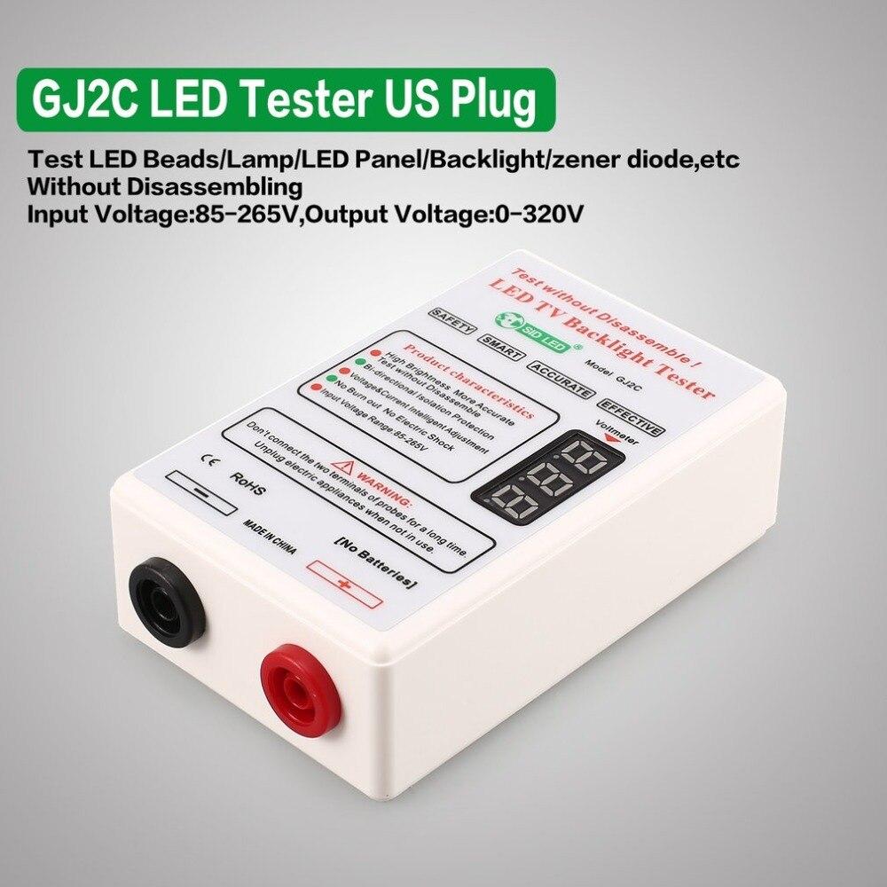 US Plug GJ2C LED LCD TV Screen Backlight Tester Voltage Meter Lamp Strip Bead Light Board Test Output 0~320V недорго, оригинальная цена