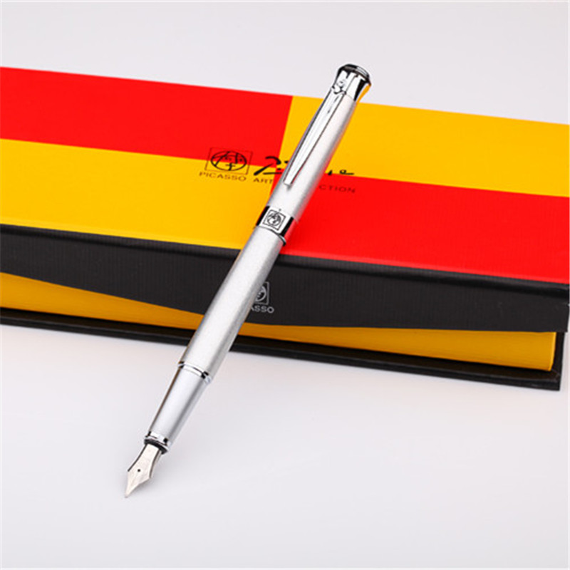 1pc/lot Picasso 903 Fountain Pens Pimio 7 Colors Silver/Lake/Black Pen Sweden Flower King Series Fast Writing Canetas 13.8*1.3cm 1pcs lot free shipping picasso fountain pen 986 pimio picasso pens for women girls gifts 5 colors white red brand pen not box