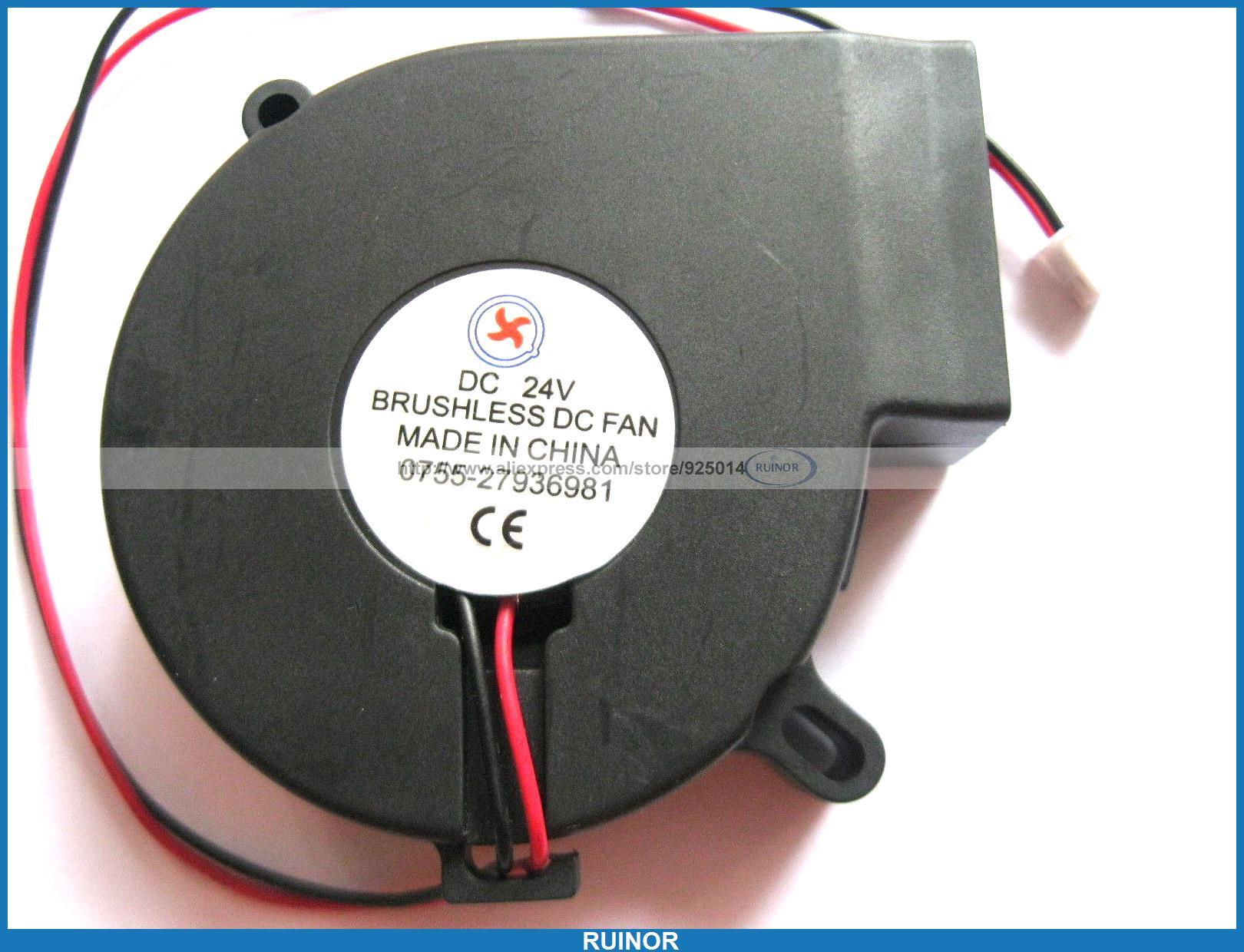 4 Pcs Brushless DC Cooling Blower Fan 7525 24V 7525s