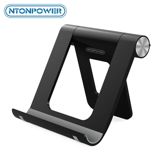 حامل الهاتف المحمول NTONPOWER مزود ببطانة من السيليكون غير قابلة للانزلاق مع إمكانية تعديل 360 درجة حامل الكمبيوتر اللوحي المكتبي لشاومي