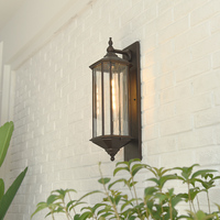 Vintage Outdoor Wall Lamp Industrial Metal Wall Light Retro Country Style Sconce Wall Lamp Loft Home Corridor Sconces Lighting
