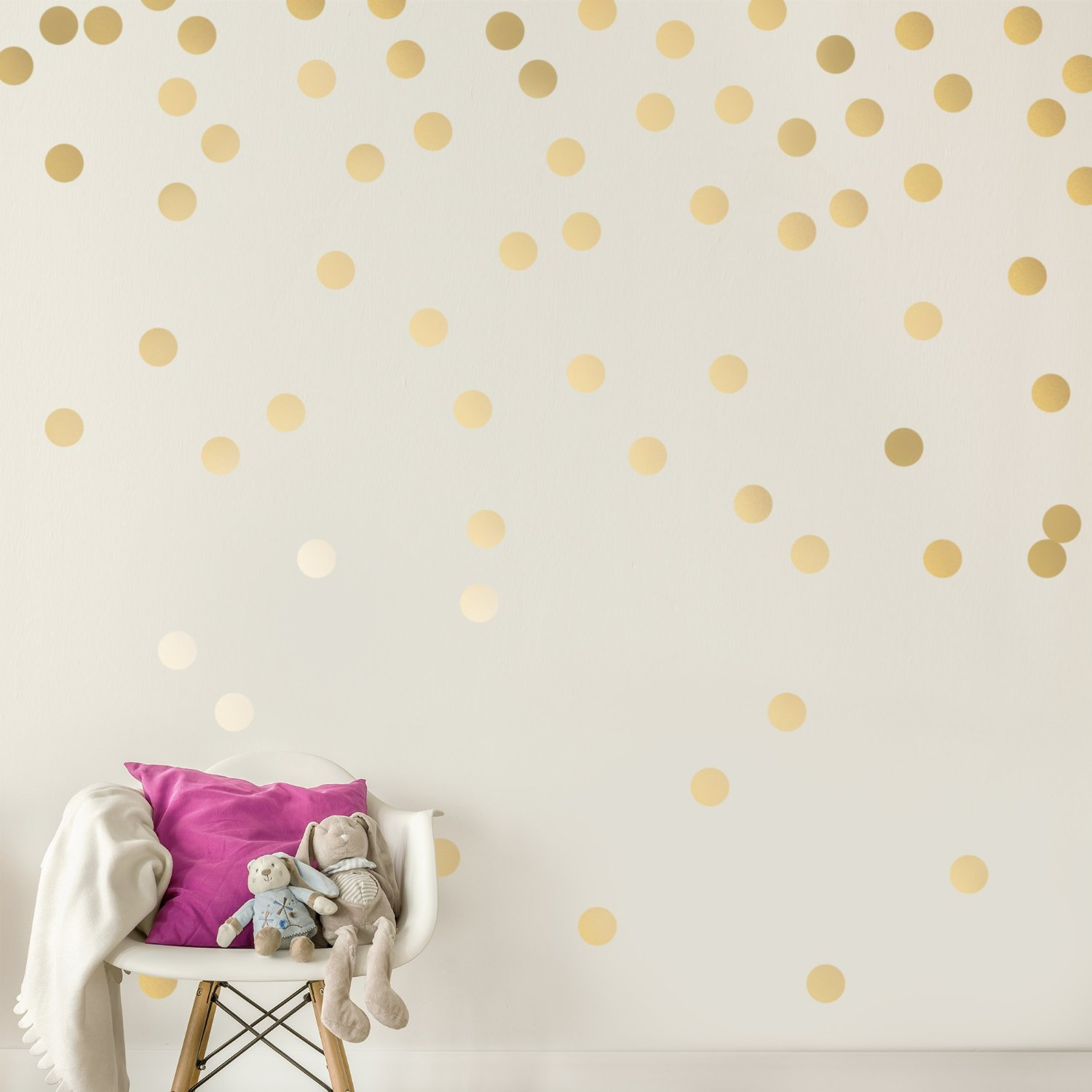 Marvelous C053 Gold Wall Decal Dots Easy Peel Stick Round Circle Art Glitter Sayings  Sticker Large Paper Sheet Set For Nursery Room In Wall Stickers From Home  ...