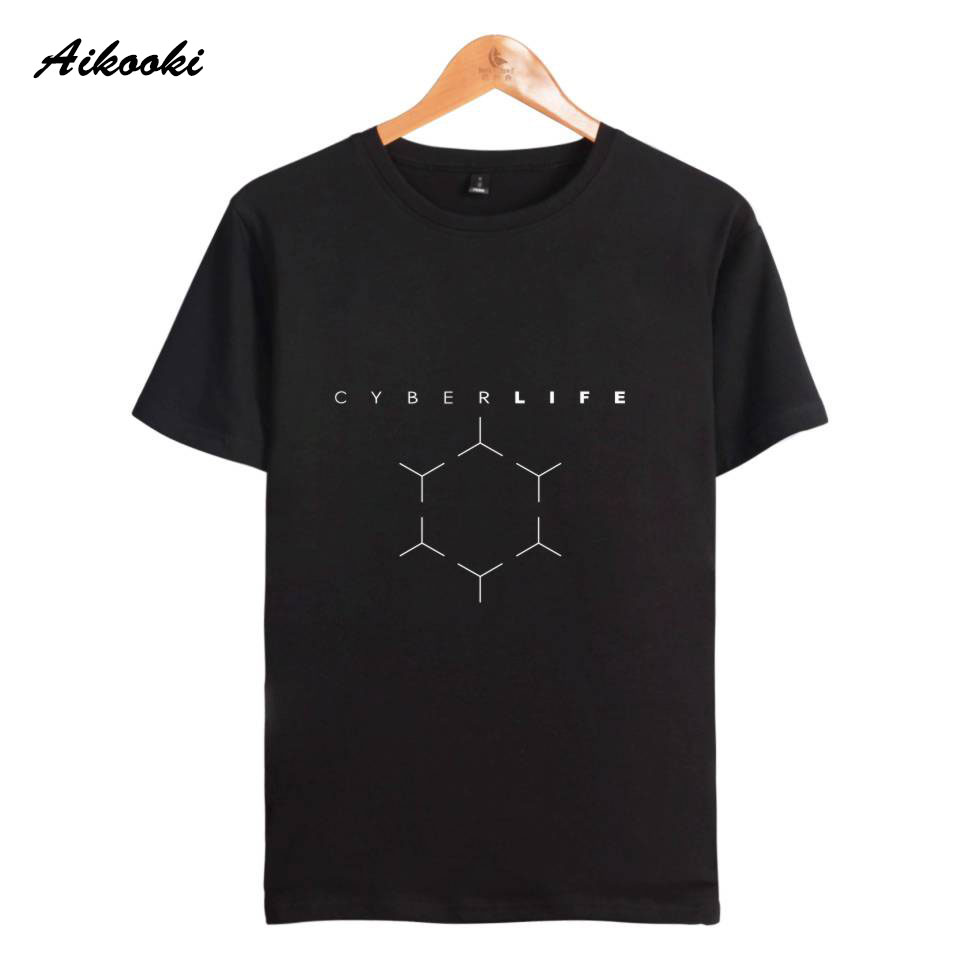 Aikooki New Game Detroit Become Human   T     shirts   3D Men/Women Summer   T  -  Shirts   Boys/Girls Breathable Tshirt Tops Detroit Game