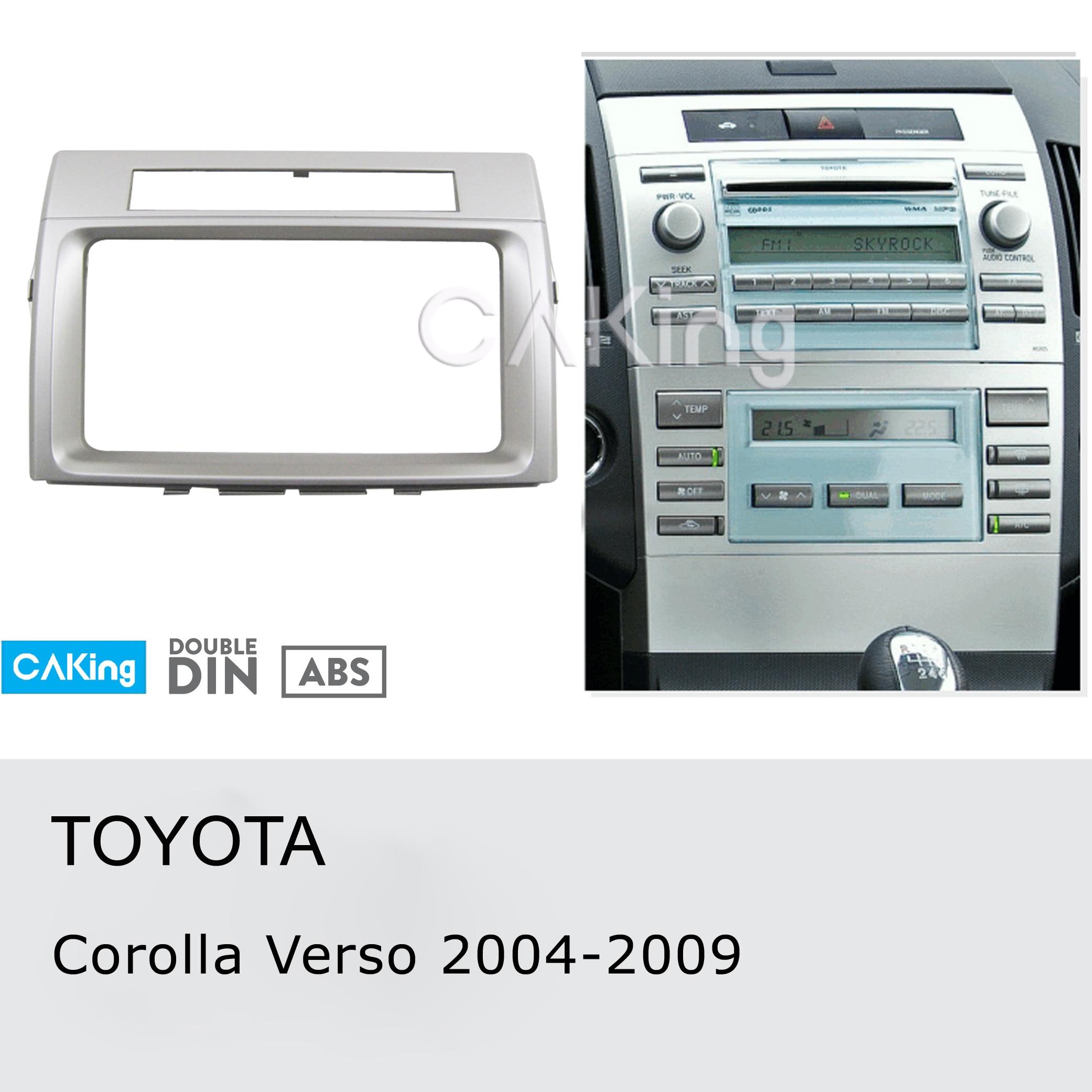Car Fascia Radio Panel for TOYOTA Corolla Verso 2004 2009 Dash Kit Install Console Facia Plate