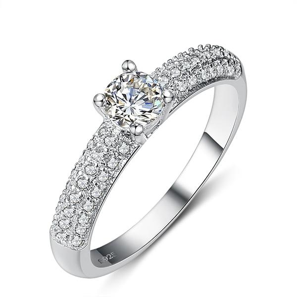 Ny ankomst varm sälja Valentines Gift blank CZ zirkon 925 sterling - Fina smycken