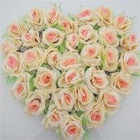 Artificial Flowers Rose Fake Flowers Silk Plastic Plant Wedding Car Decoration Door Wreath Decorative Garland Wedding SuppliesD3