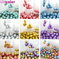 20pcs Metallic Balloons Birthday Gender Reveal Wedding Party Supplies Decorations Kids Adult Disposable Tableware Frozen