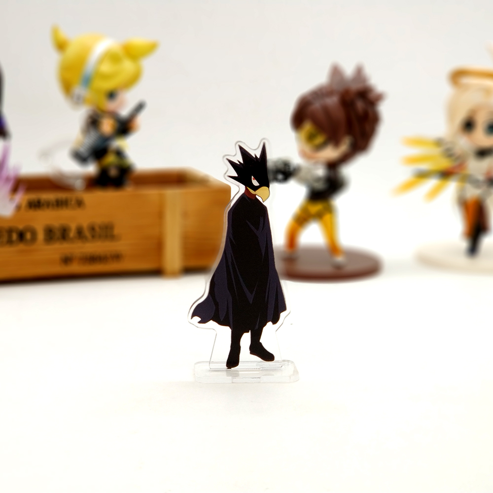 Love Thank You My Hero Academia Fumikage Tokoyami SMALL acrylic stand figure model plate holder cake topper anime BOKU NO