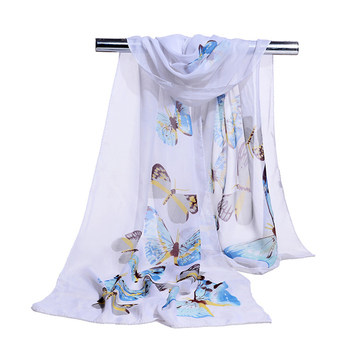 Scarves Women 2018 Summer High Quality Silk Scarf Chiffon Shawl Long Scaves for Ladies Thin Printed Feminine Beach Cape Stole - discount item  30% OFF Scarves & Wraps