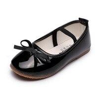 JGVIKOTO printemps automne doux filles chaussures tout petits petite fille grands enfants chaussures en cuir avec noeud papillon noir rose rouge mignon princesse|Chaussures de sport| |  -