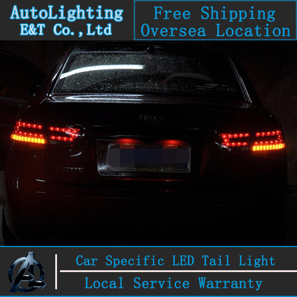Shipping Option Led Tail Lamp for Kia Forte tail lights 2010-2013 Cerato led tail light drl rear lamp signal+brake+reverse free shipping rear left tail lights lamp assembly 1p for 2008 2012 kia spectra cerato