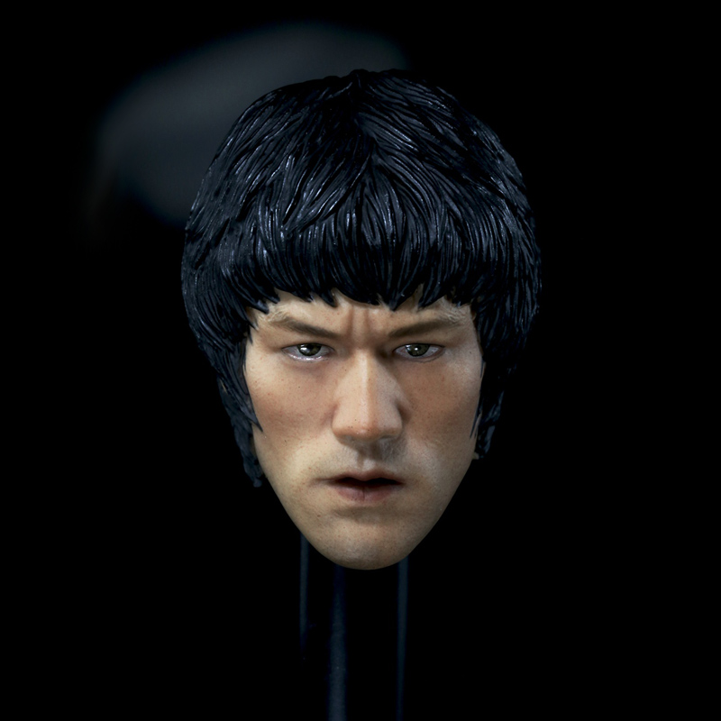 Mnotht 1/6 Solider Bruce Lee Eye version Head Sculpt For 12in Action Figures Toys L30 mnotht head sculpt 1 6 solider head model mk42 mk43 iron man toni carved head for 12in figures toys and body l30