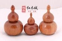 Mahogany handicraft Burmese rosewood / big fruit rosewood gourd toothpick wood toothpick box Mahogany toothpick
