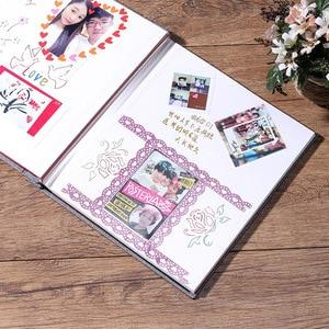 Image 4 - New Linen 16inch DIY Photo Album Lovers Birthday Gift Wedding Photos Baby Photo Ablum Scrapbook Paper Crafts  Albums Sticky