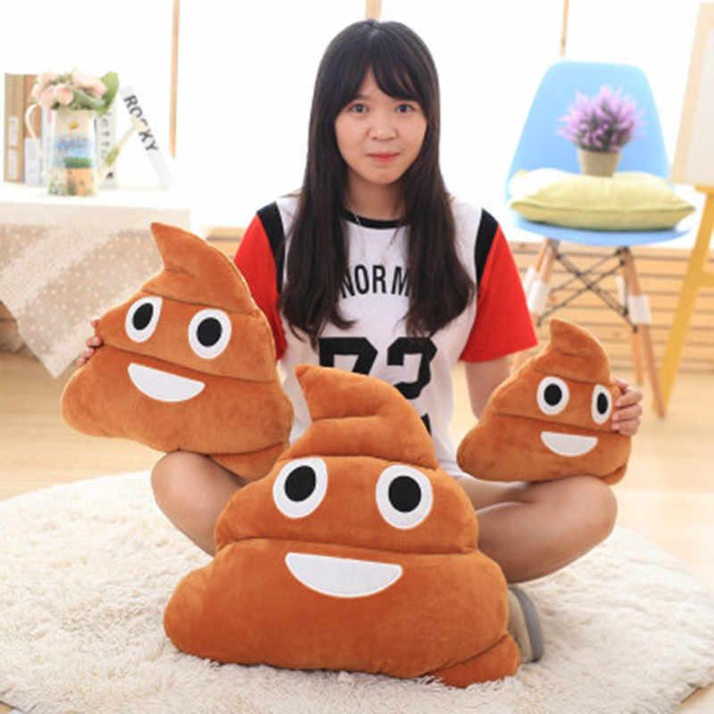VILEAD Bonito Emoji Smiley Emoticon Cocô Travesseiro Almofada Crianças Dormindo Travesseiro Sofá Decorativo Recheado Macio Curto Plush Toy Boneca