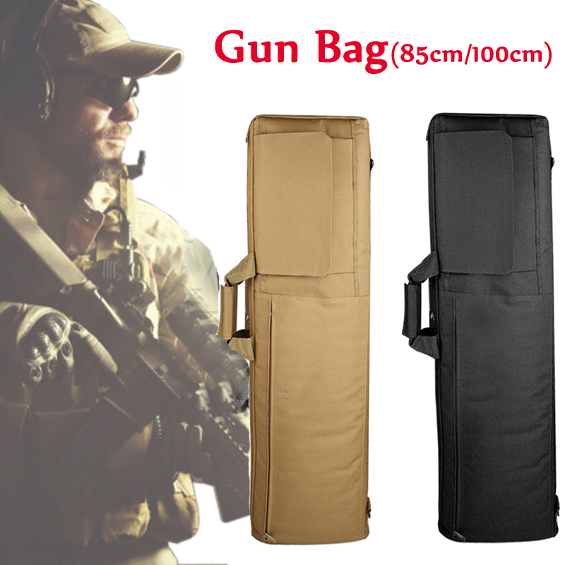 85cm / 100cm Military Tactical Gun Bag Hunting Rifle Gun Carry Bag Airsoft Rifle Case Hunting Bags Sniper Gun Protective Case-in Holsters from Sports & Entertainment