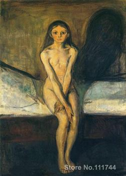 online art gallery Puberty Edvard Munch paintings Hand painted High quality