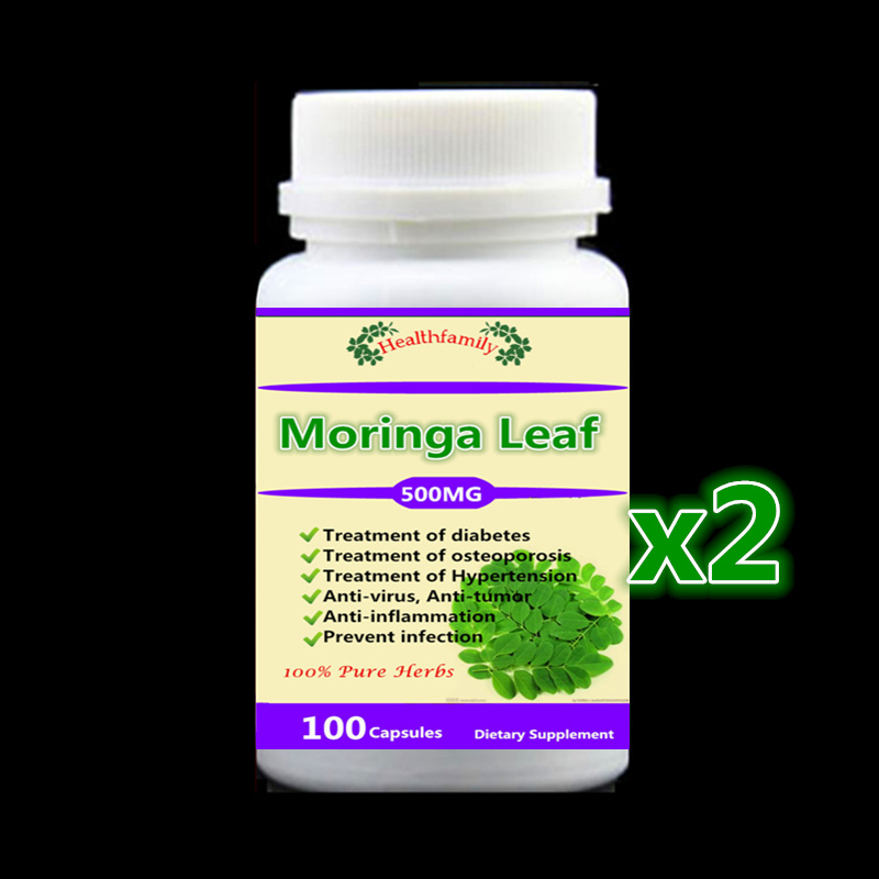 500mg 200Pcs Moringa Leaf Extract Capsules Treatment of diabetes,osteoporosis,high blood pressure | anti-virus, anti-tumor health supplement moringa oleifera leaf extract tablets antioxidant energy booster