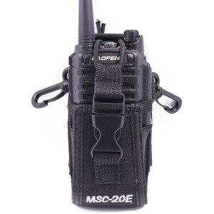Image 4 - 2 stücke Abbree MSC 20E Tragbare Radio Nylon Fall Abdeckung Freisprecheinrichtung Halter für Walkie Talkie Baofeng UV 5R UV XR UV 9R Plus BF 888S