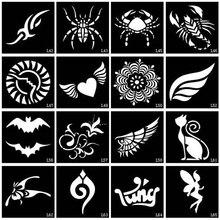 100pcs Small Glitter Tattoo Stencil Drawing Painting, Airbrush Tattoo Stencils For Woman Kids Temporary Henna Tattoo Stickers